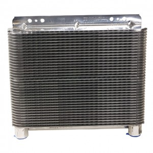 B&M (70272): Polished Aluminum SuperCooler Oil Cooler