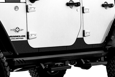 Rampage Products Rhino Linings Rocker Guards For Jeep