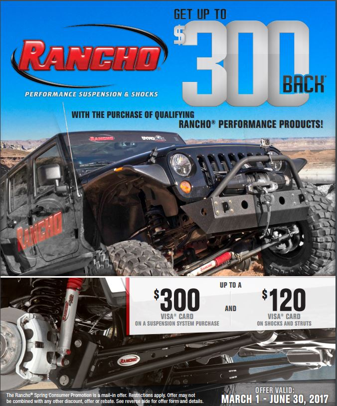 Rancho Get Up to $300 Back