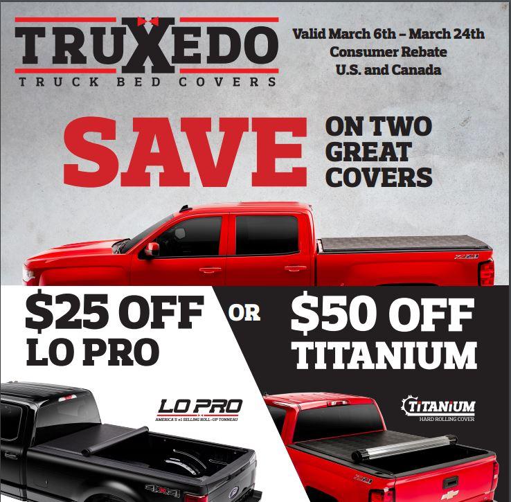 TruXedo Lo Pro Titanium Rebate