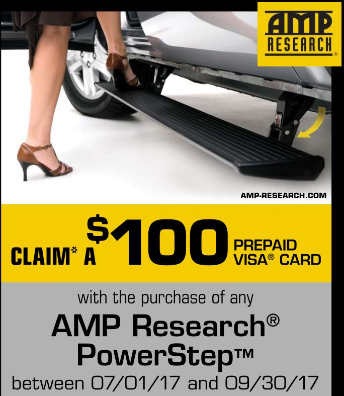 AMP Research: $100 Prepaid Visa with PowerStep Purchase