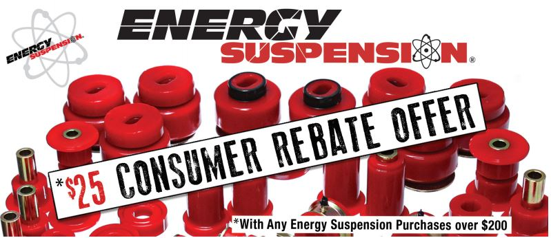 Energy Suspension: $25 Rebate on Purchases over $200