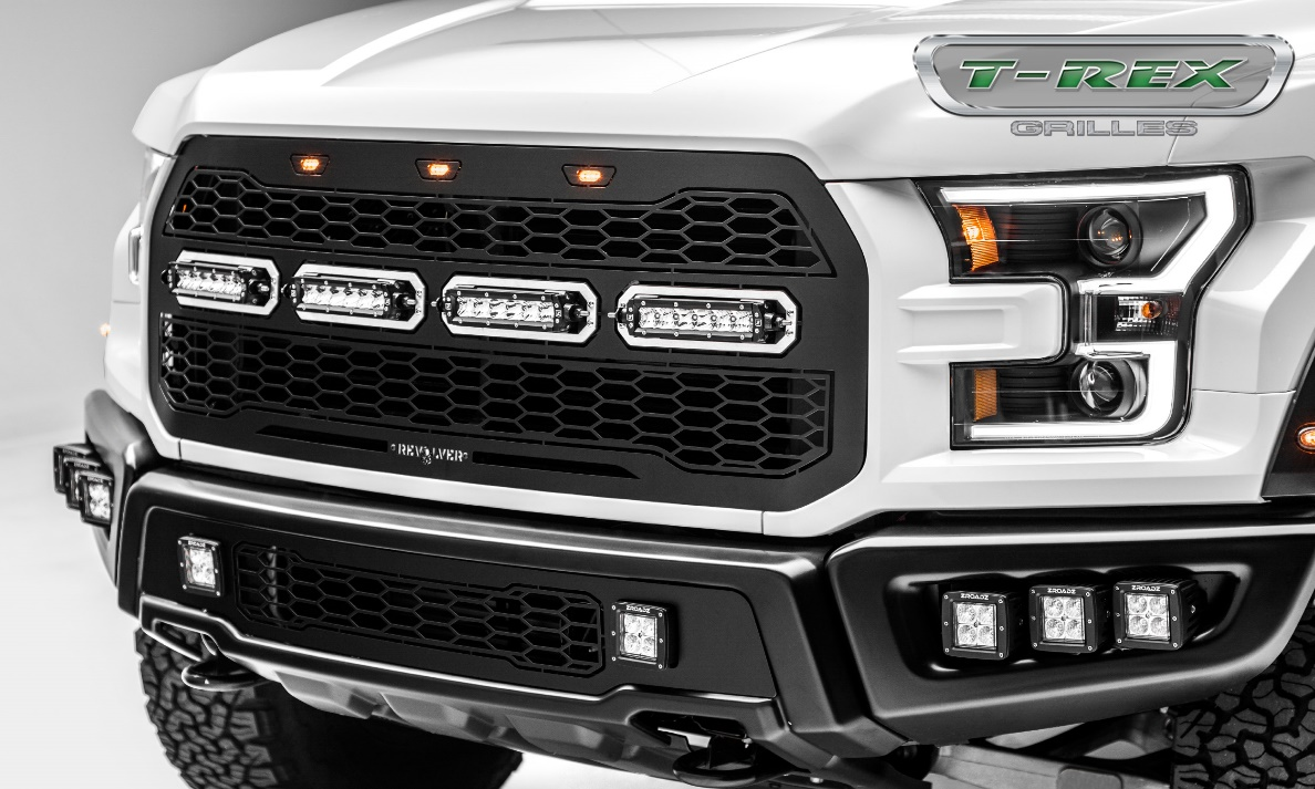 T-Rex Grilles: Revolver Series Grilles for 2017 Ford Raptor