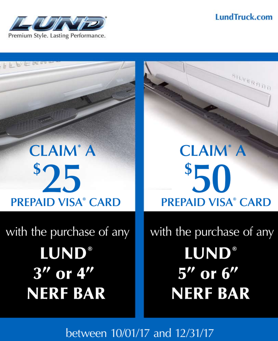 LUND: Get Up to a $50 Prepaid Card with Nerf Bar Purchase