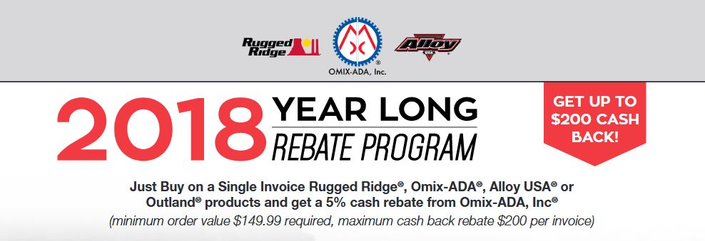 Rugged Ridge: Year-Long Rebate Program
