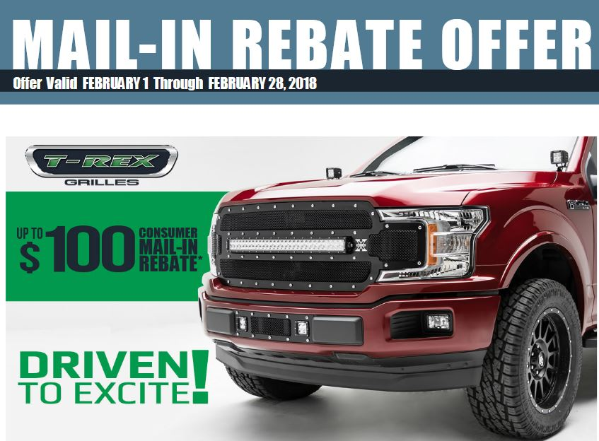 T-Rex Grilles: Up to a $100 Rebate on T-Rex Products
