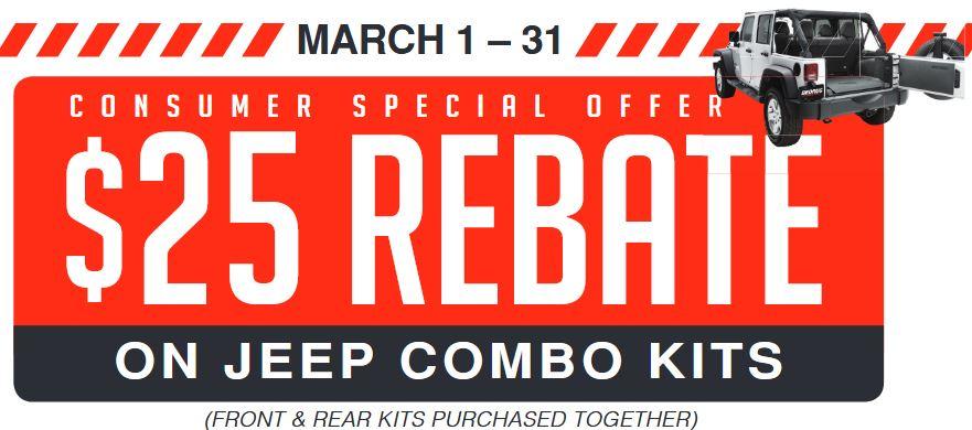 BedRug: $25 Back on Jeep Combo Kits