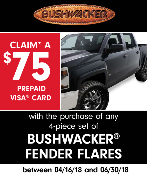 Bushwacker 75 Card on Four-Piece Fender Flares
