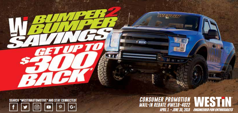 WESTiN Automotive: Get up to $300 Back on Select Bumpers
