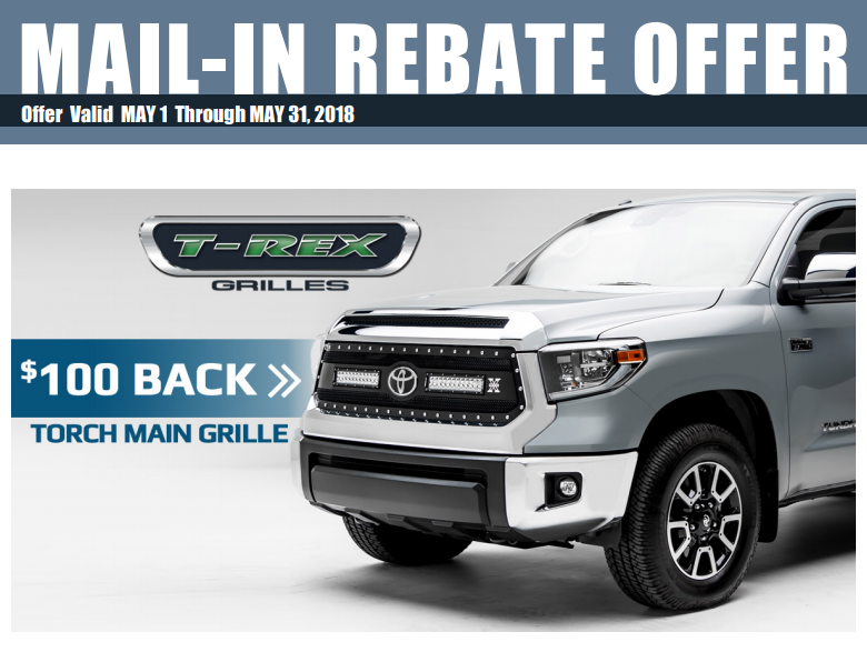 T-Rex Grilles 100 Dollars Back on Torch Grilles