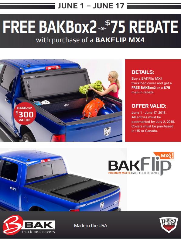BAK Industries BAKBox2 or 75 Back with BAKFlip MX4 Purchase