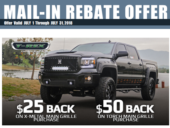 T-Rex Grilles: Get Up to $50 Back on Grilles