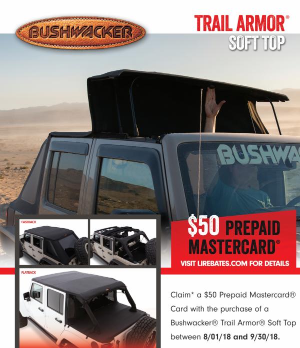 Bushwacker 50 Card on Trail Armor Soft Top
