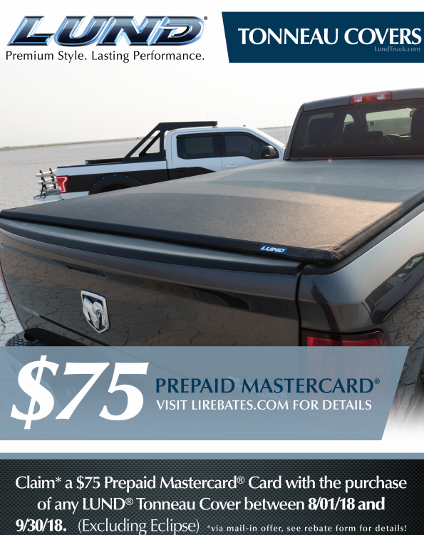 LUND: $75 Prepaid Card with Tonneau Cover Purchase