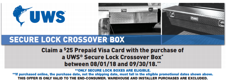 UWS 25 Prepaid Card on Secure Lock Crossover Boxes