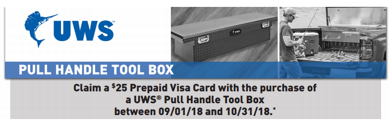 UWS 25 Card on Pull Handle Toolboxes