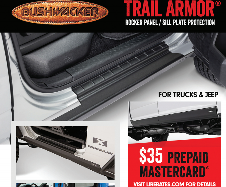 Bushwacker 35 Card on Rocker Panel Sill Plate