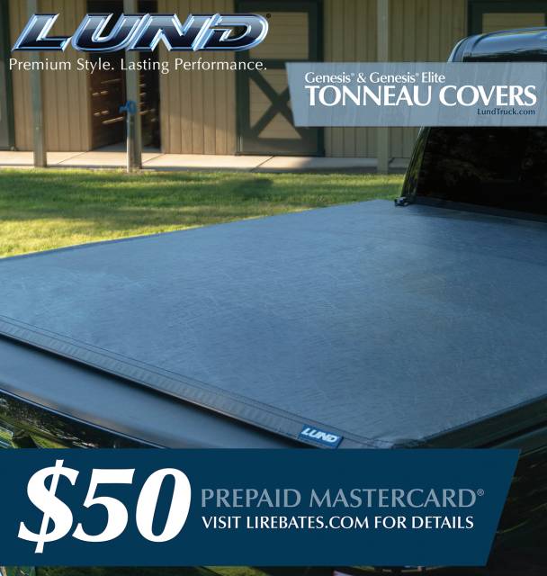 LUND: Get a $50 Prepaid Card on Genesis and Genesis Elite Tonneau Cover Purchases