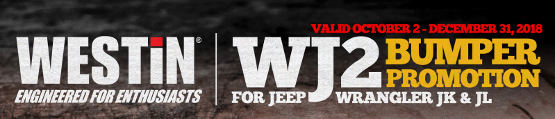 WESTiN WJ2 Bumper Promotion for Jeep Wrangler JK and JL