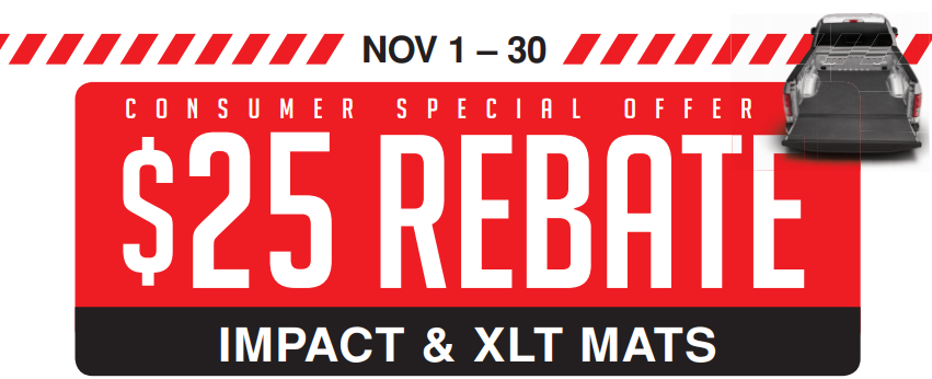 BedRug $25 Back on Impact and XLT Mats