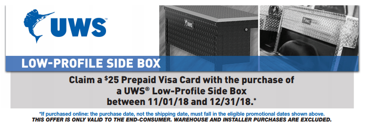 UWS 25 Card on Low Profile Side Boxes