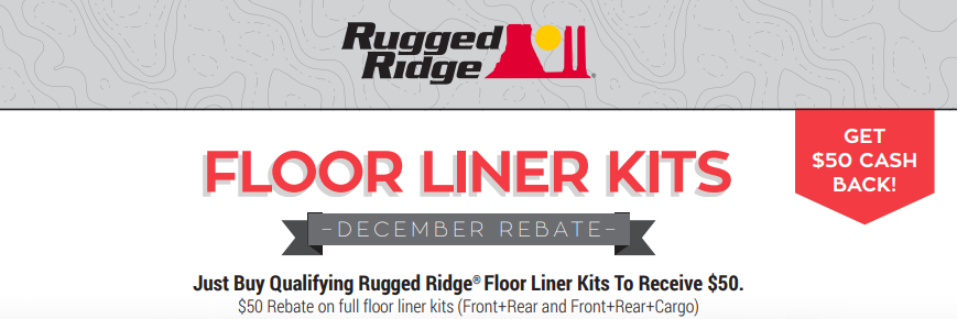 Rugged Ridge: Get $50 Back on Floor Liner Kits