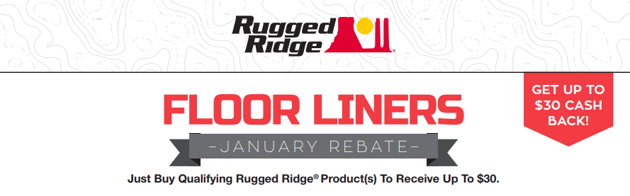 Rugged Ridge: Get Up to $30 Back on Qualifying Floor Liners