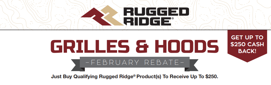 Rugged Ridge Up to $250 Back on Grilles and Hoods