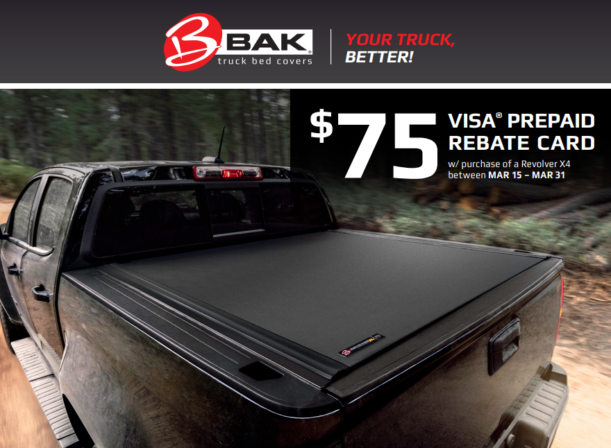 BAK Industries: Get $75 Back with Revolver X4 Truck Bed Cover Purchase