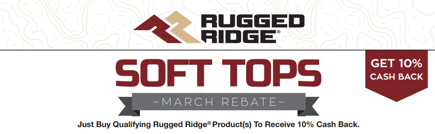 Rugged Ridge: Get 10% Cash Back on Qualifying Soft Top Purchases