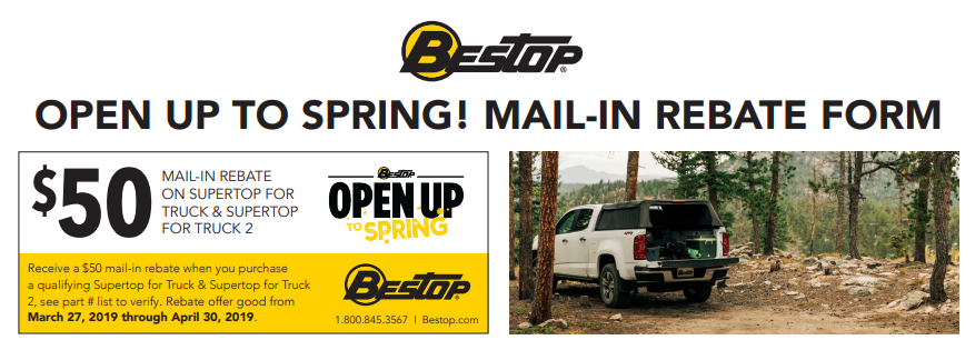 Bestop: Get $50 Back on Qualifying Supertop for Truck and Supertop for Truck 2 Purchases—NOW UNTIL 5/31!
