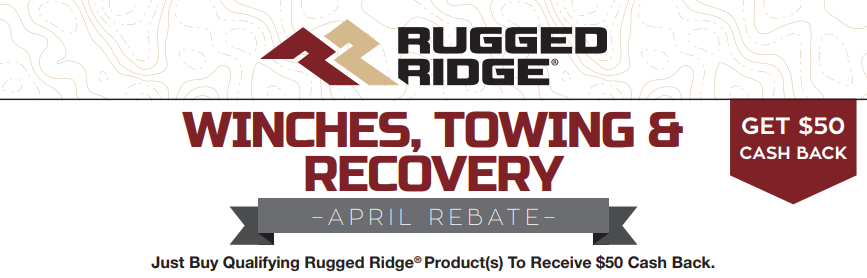 Rugged Ridge $500 Back on Winches, Towing, and Recovery