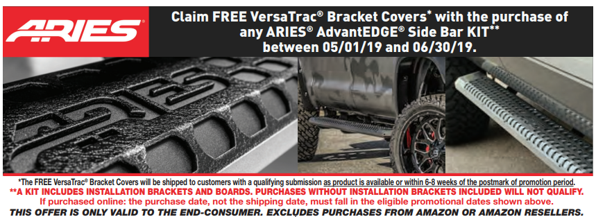 ARIES Free VersaTrac Bracket Covers with AdvantEDGE Side Bar Kit Purchase