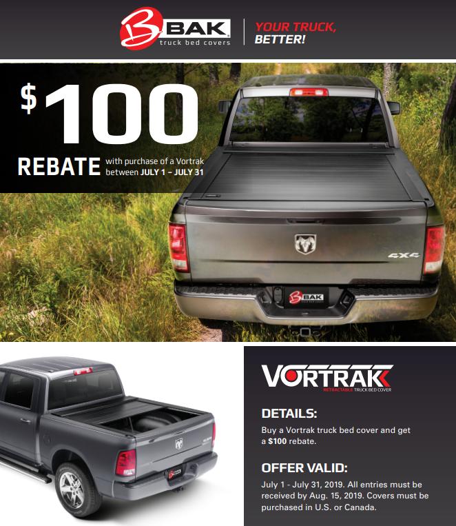 BAK Industries: Get $100 Back on Vortrak Truck Bed Covers